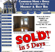 Cambridge, MA - SOLD! in 5 Days