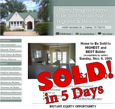 Dallas, TX - SOLD! in 5 Days