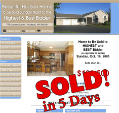 Hudson, WI - SOLD! in 5 Days