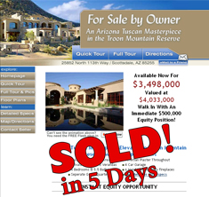 Scottsdale, AZ - SOLD! in 5 Days