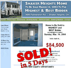 Shaker Heights, OH - SOLD! in 5 Days
